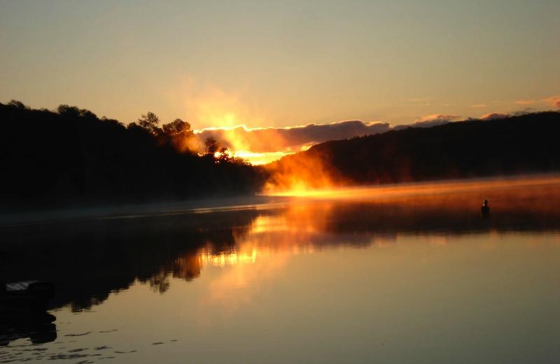 Lake sunset at Northern Lights Resort.