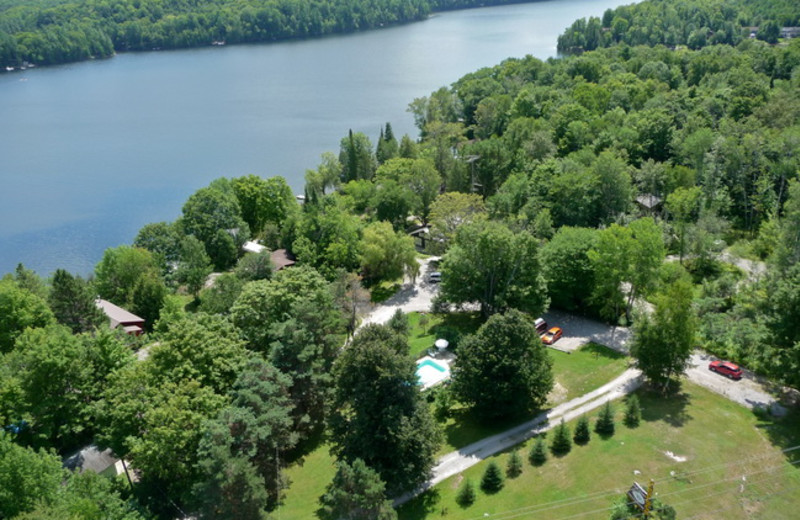 Aerial view of Ogopogo Resort.