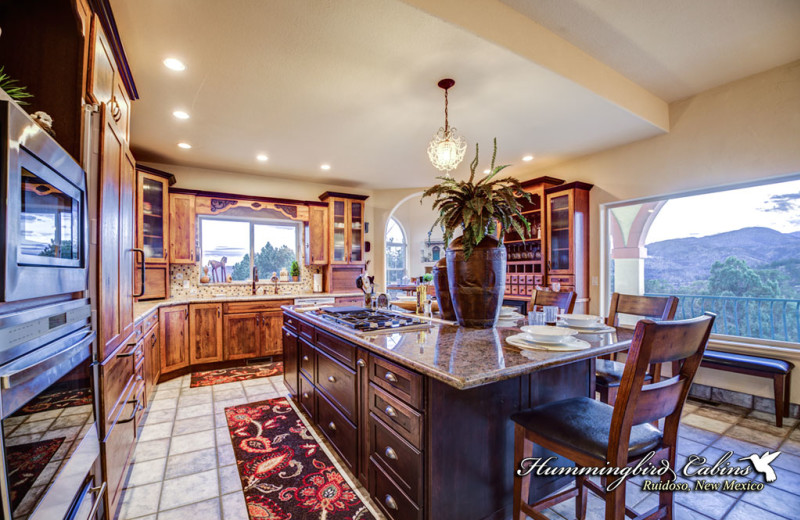 Cook with a view at Hummingbird Cabins' Casa Encantada!
