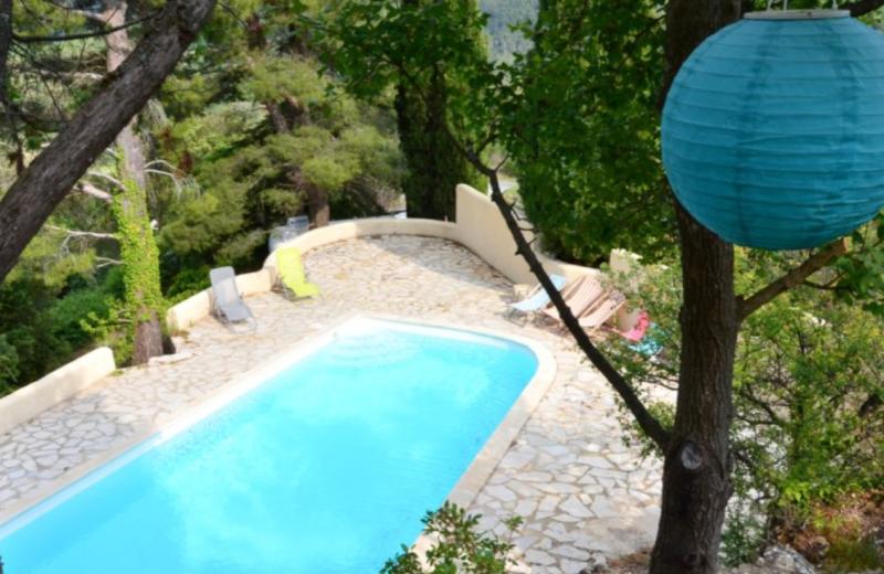 Outdoor pool at Auberge du Vieux Village.
