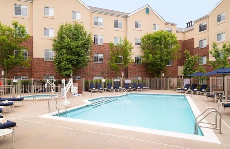 Outdoor pool at Hyatt House White Plains.