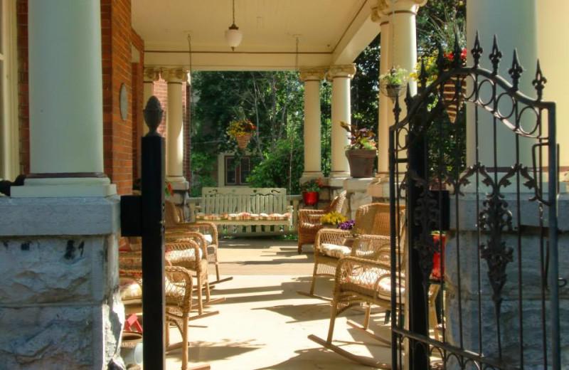 Porch view at Secret Garden B&B.