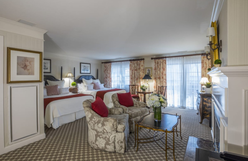 Guest room at Saybrook Point Inn, Marina & Spa.
