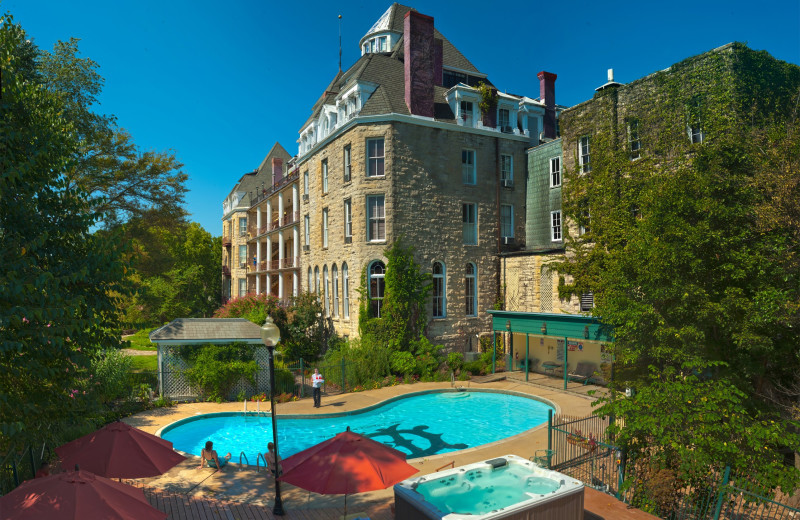 Outdoor pool at 1886 Crescent Hotel & Spa.