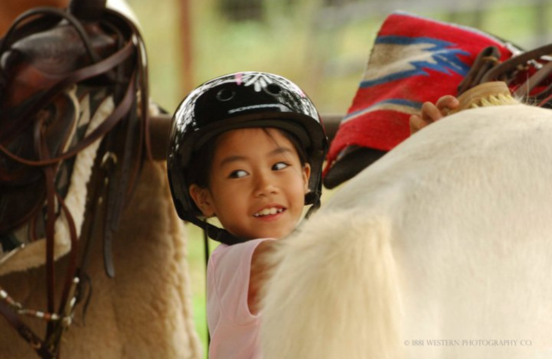 Preparing to Ride at Sugar & Spice Ranch