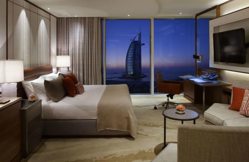 Guest room at The Jumeirah Beach Hotel.