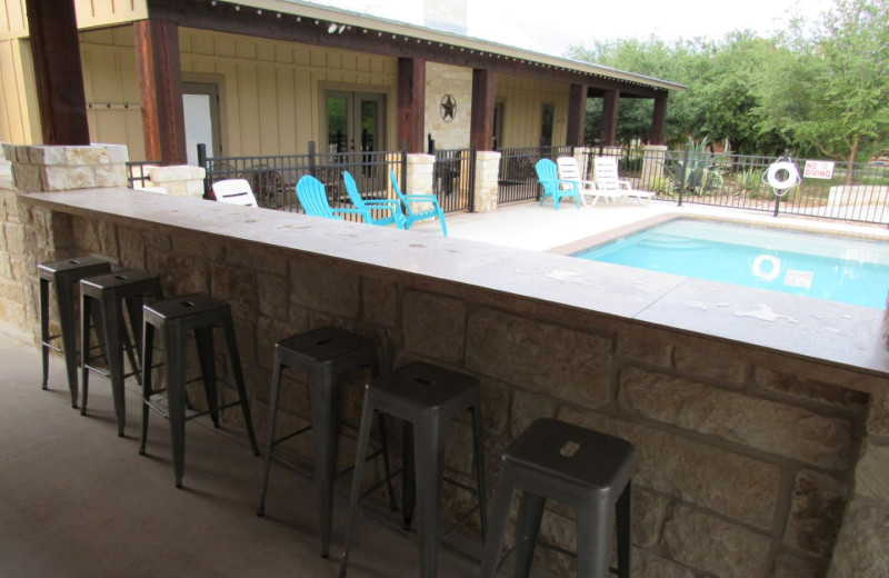Rental pool at Frio River Vacation Rentals.
