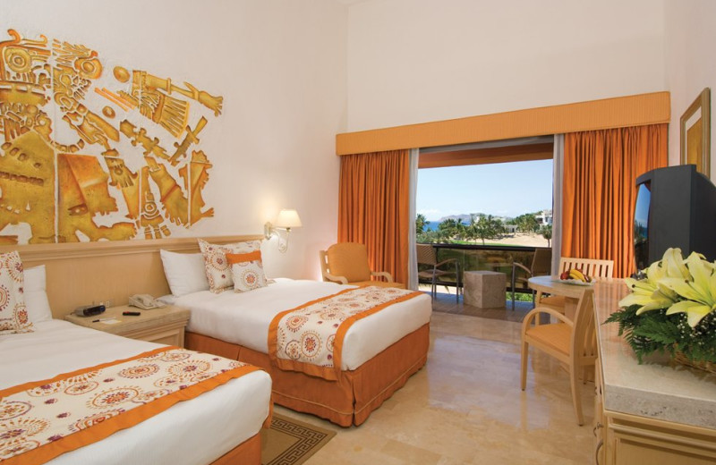 Guest room at Melia Cabo Real.