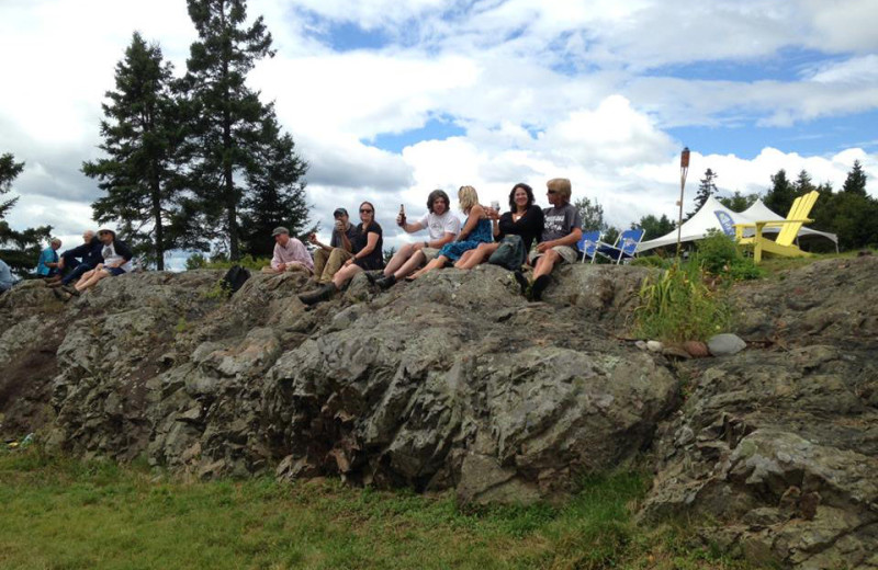 Group at Rossport Lodging