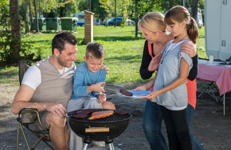 Family BBQ at Great Blue Resorts- Vine Ridge Resort.
