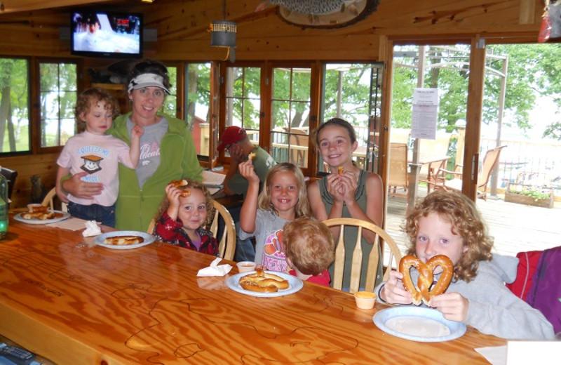 Dining at Cedar Point Resort.