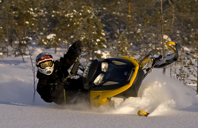 Snowmobiling at Aspen View Lodge.