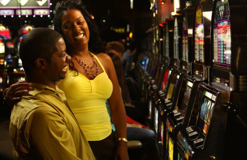 Slot machines at River Rock Casino.