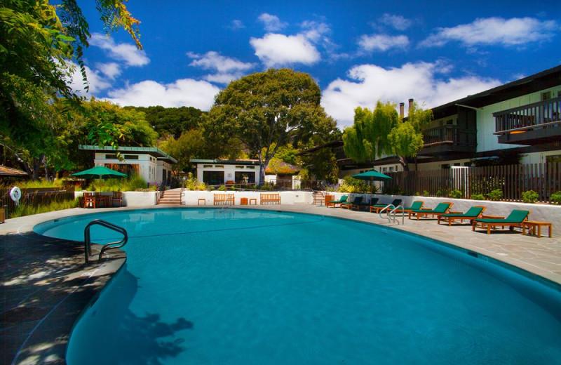 Outdoor pool at Quail Lodge Resort.