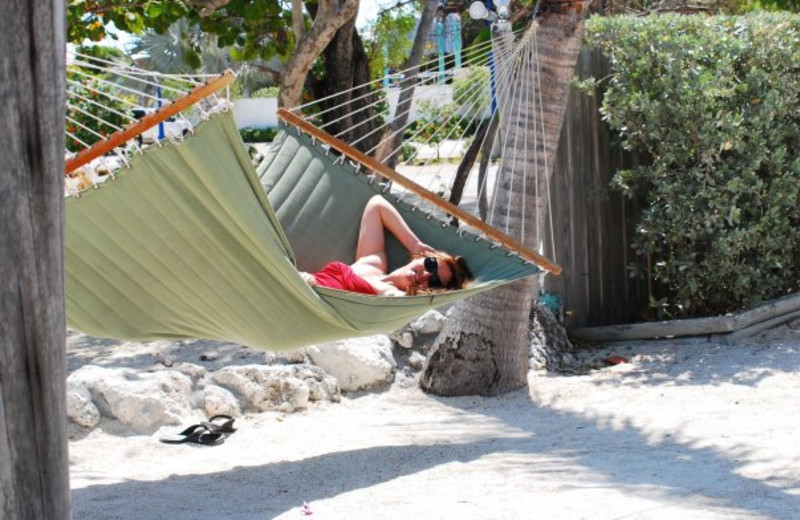 Relaxing by the beach at Lookout Lodge Resort.