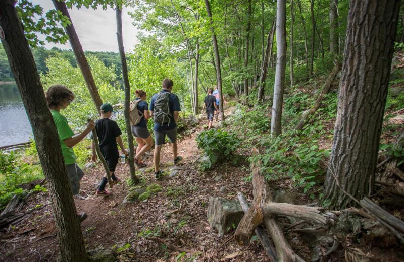 Hiking at Mountain Creek Resort.