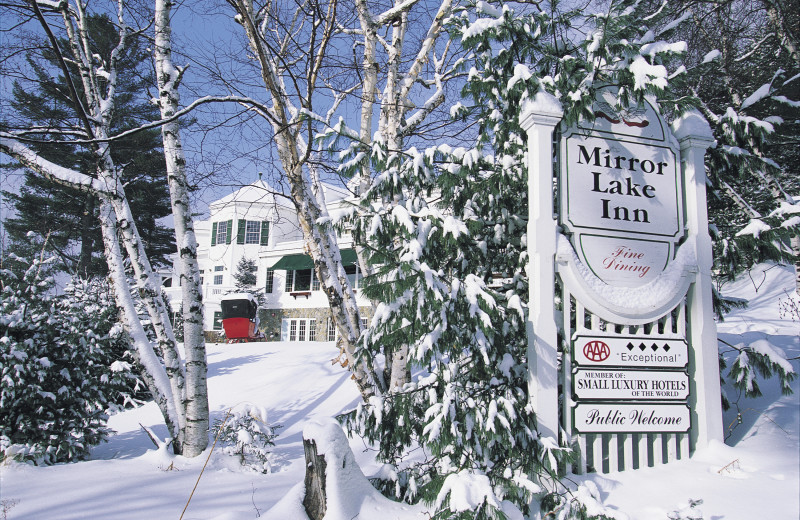 Winter at Mirror Lake Inn Resort & Spa.