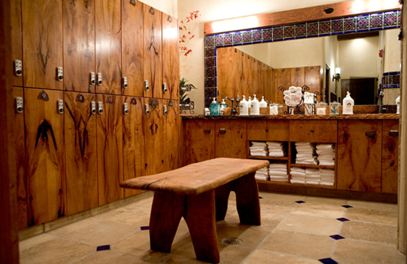 Spa locker room at Tubac Golf Resort.