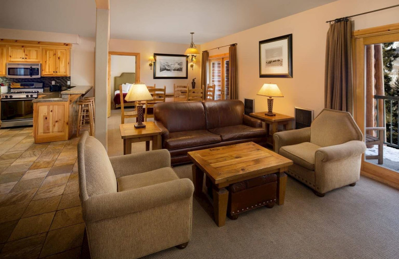 Guest room at Mountain Lodge Telluride.