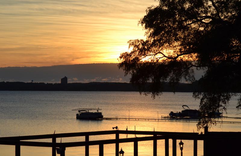 Sunset at The Beach Haus Resort.