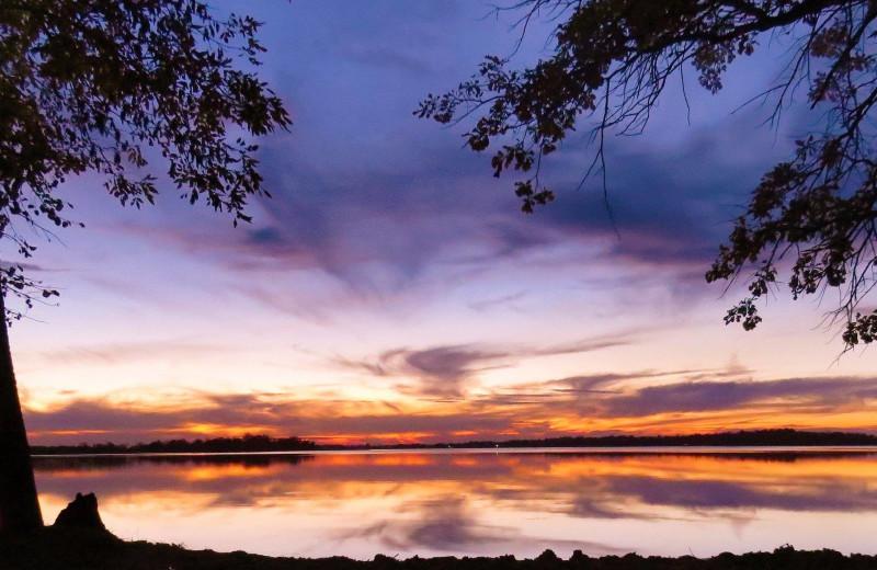 Sunset at Woodland Resort.