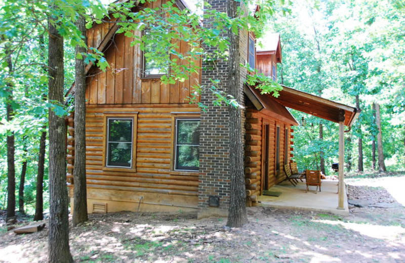 Cabin exterior at Rockin Z Ranch.