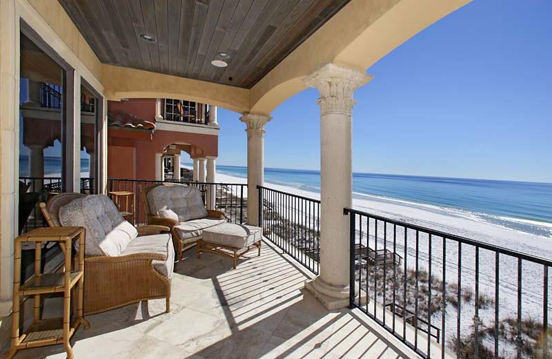 Rental balcony at Southern Vacation Rentals.