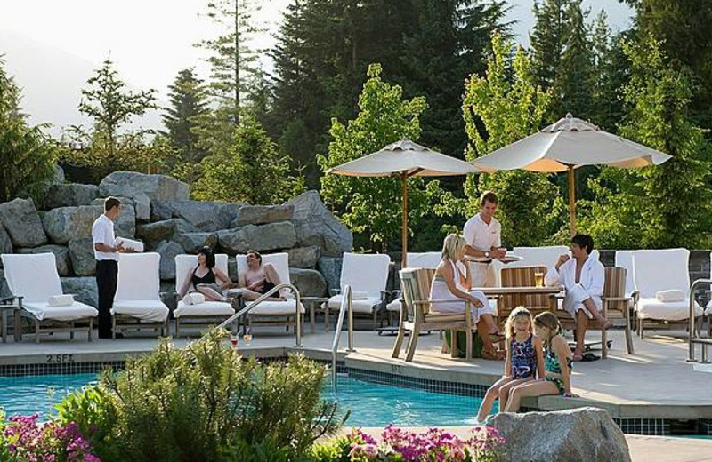 Outdoor pool at Four Seasons Resort Whistler.