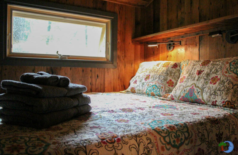 Guest bed at Blue Moon Rising.