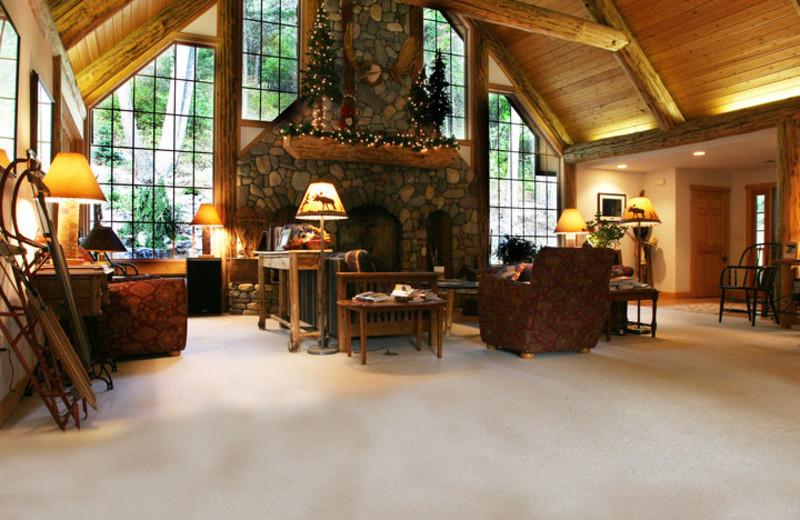 Lobby view at Hidden Moose Lodge.