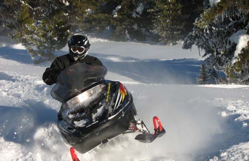 Snowmobiling at Silver Spur Outfitters.