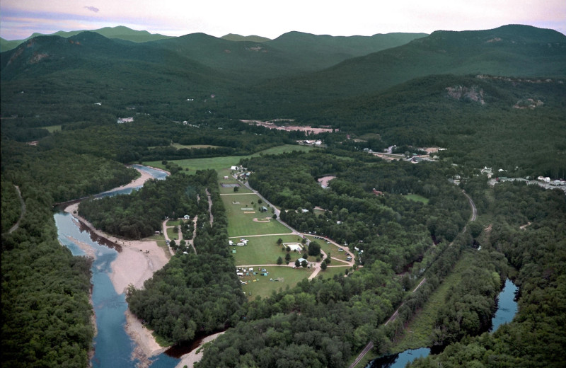 Aerial view of Glen Ellis Family Campground.