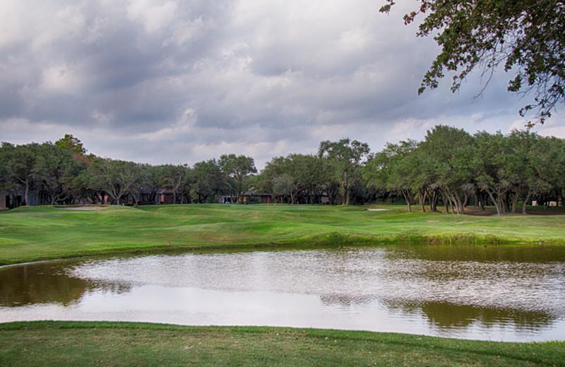 Golf course near The Lighthouse Inn at Aransas Bay.