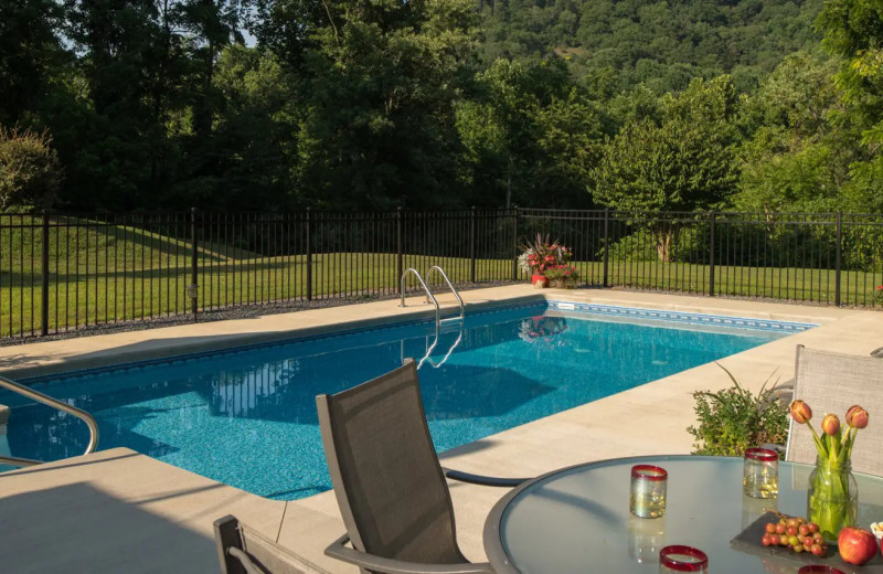 Outdoor pool at Orchard House Bed & Breakfast.
