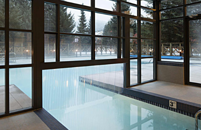 Pool at Delta Whistler Village Suites.