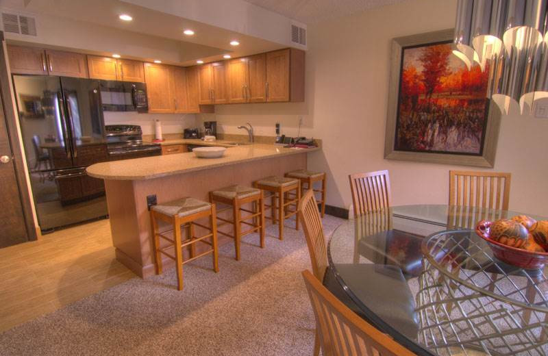 Rental kitchen at Westwind at Vail.