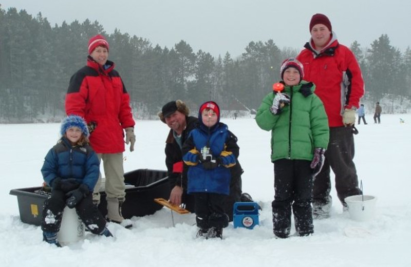 Ice fishing at Heartwood Conference Center & Retreat.