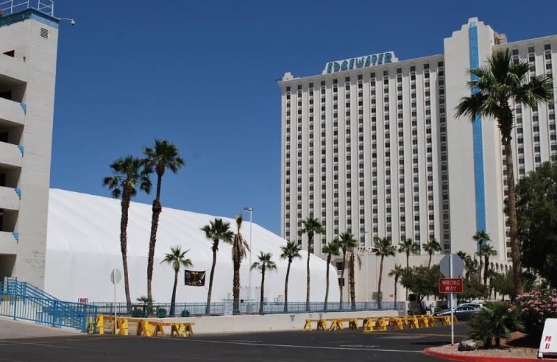 Exterior view of Edgewater Hotel & Casino.