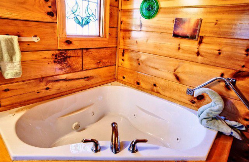 Jacuzzi view at Alpine Mountain Chalets.