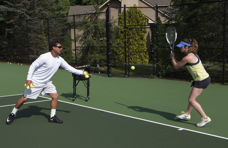 Tennis lessons are available or just enjoy a game with your family and friends at our 3 courts.