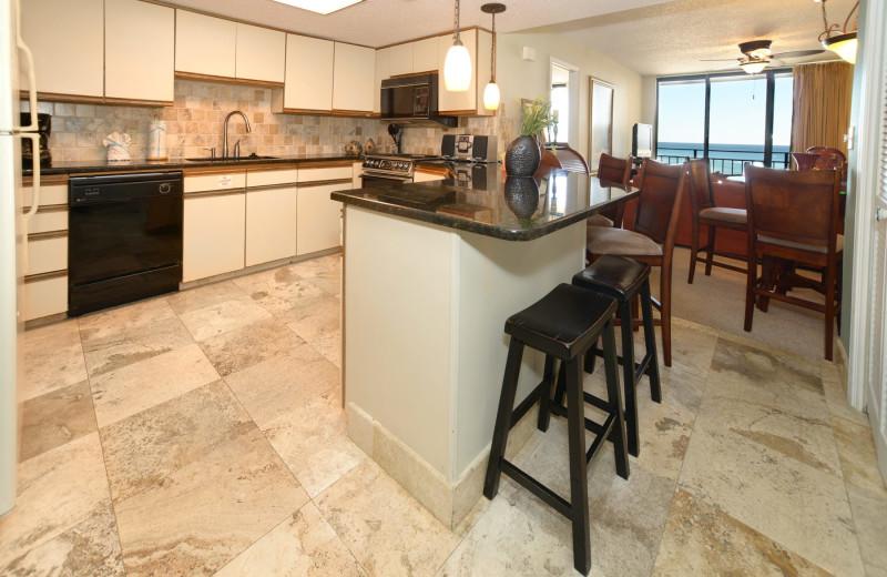 Guest kitchen at Nautilus Condominiums.