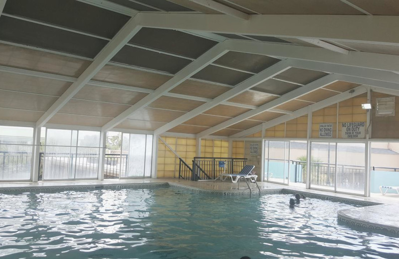 Indoor pool at Ocean Plaza Golf Resort.