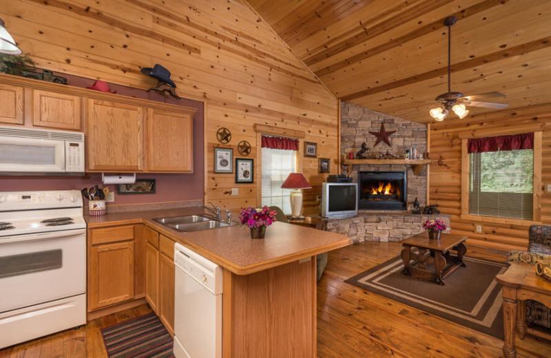 Guest cabin at Westgate Branson Woods Resort.