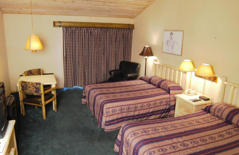 Guest room at Best Western Ponderosa Lodge.