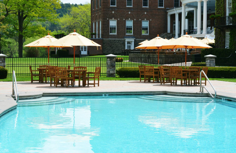 Outdoor pool at The Otesaga Resort Hotel.