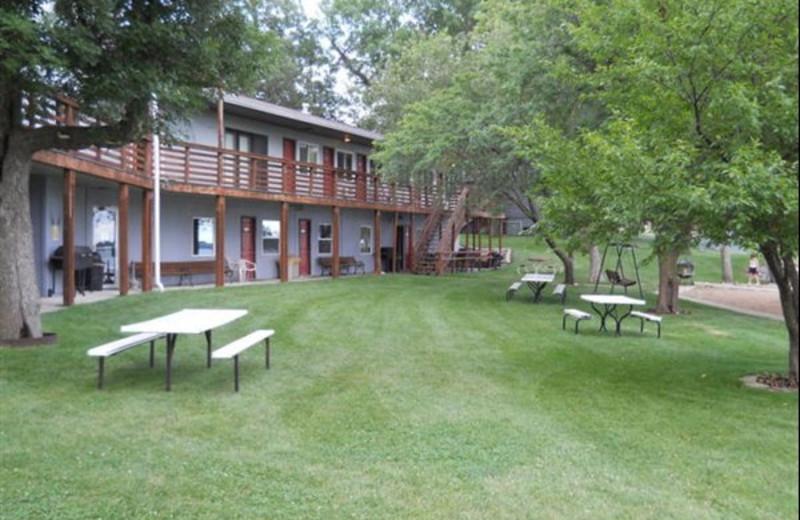 Exterior view of Lake Shetek Lodge.