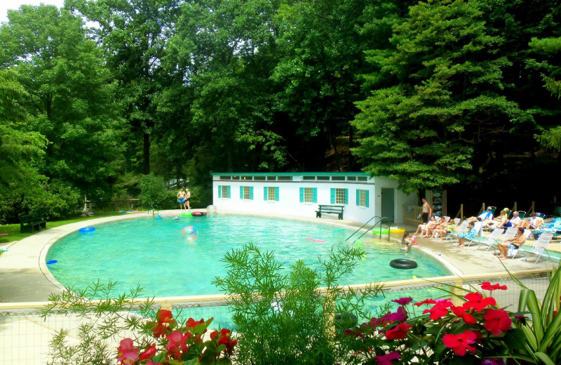 Outdoor pool at Capon Springs & Farms.