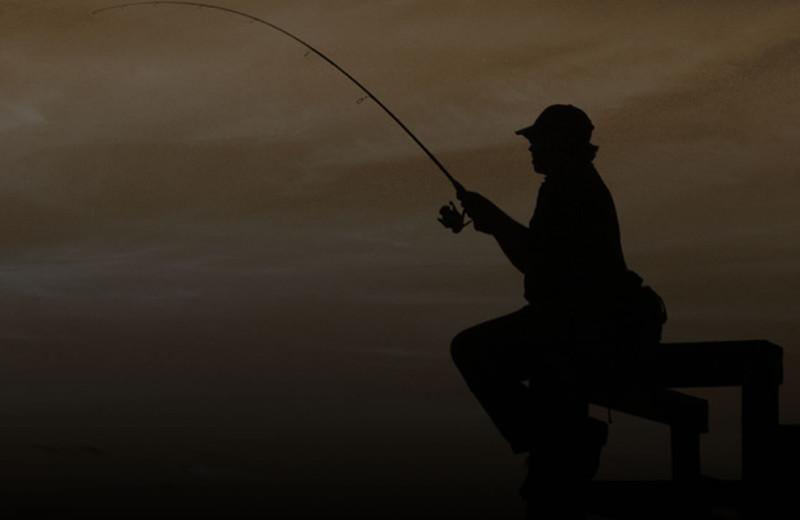 Fishing at Crooked Lake Wilderness Lodge.