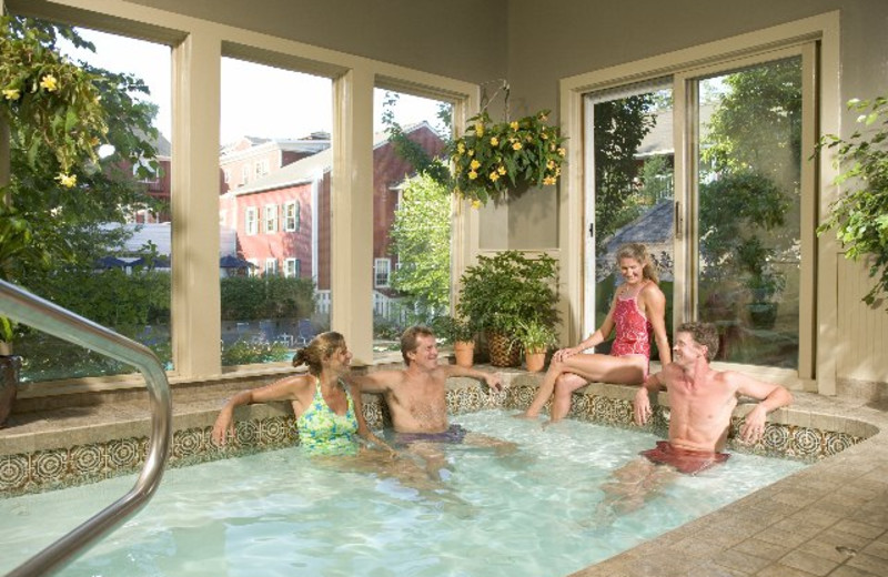Hot tub at The Green Mountain Inn.