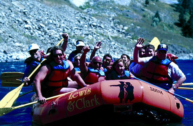River rafting near Jackson Hole Lodge.